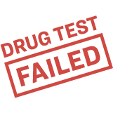 Illustration of a Drug Test Failed stamp